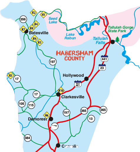 2018 Northeast Georgia Arts Tour Habersham County Map