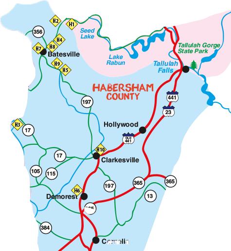 2018 Northeast Georgia Arts Tour Habersham County Map